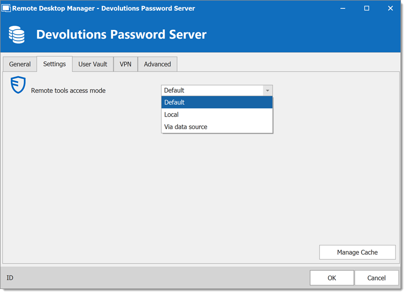 Devolutions Password Server - Settings